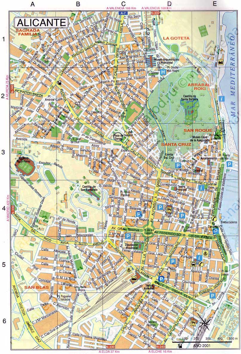 Аликанте испания на карте испании на русском