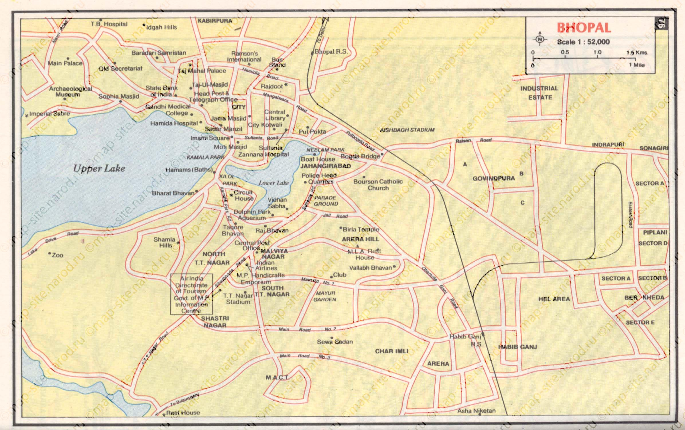 map of Bhopal map Maps of Bhopal