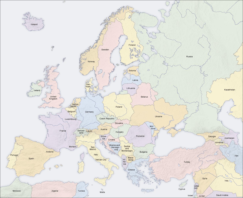 Карта зарубежной европы бензин ваз
