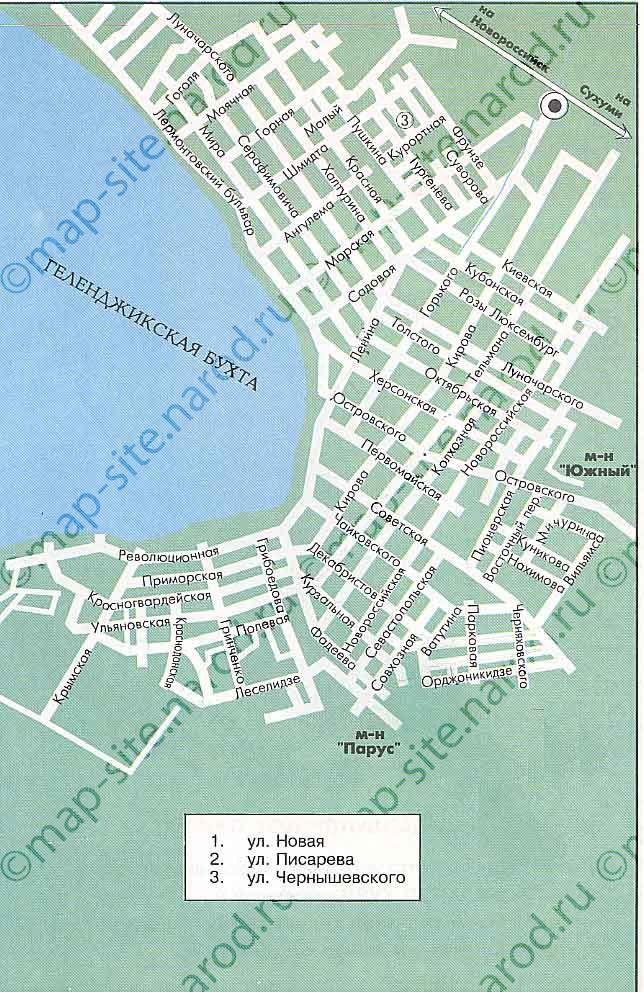 Карта-схема.