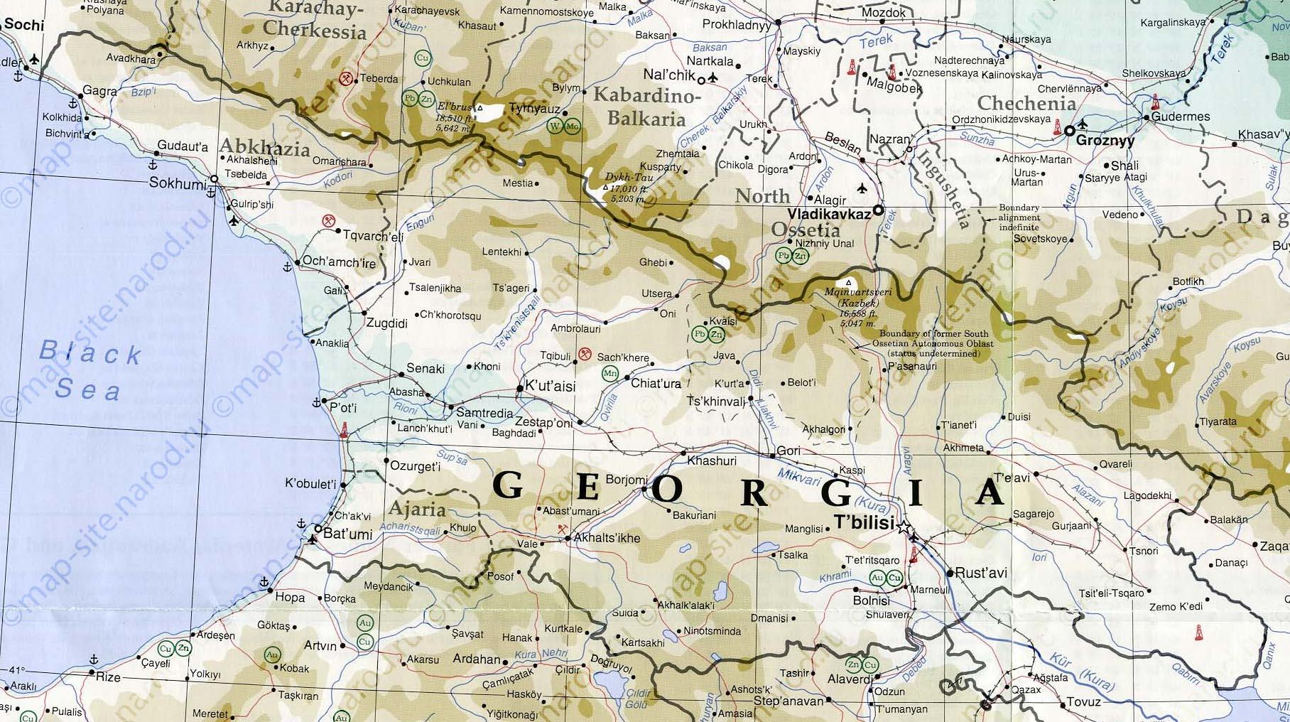 Karta Gruzii