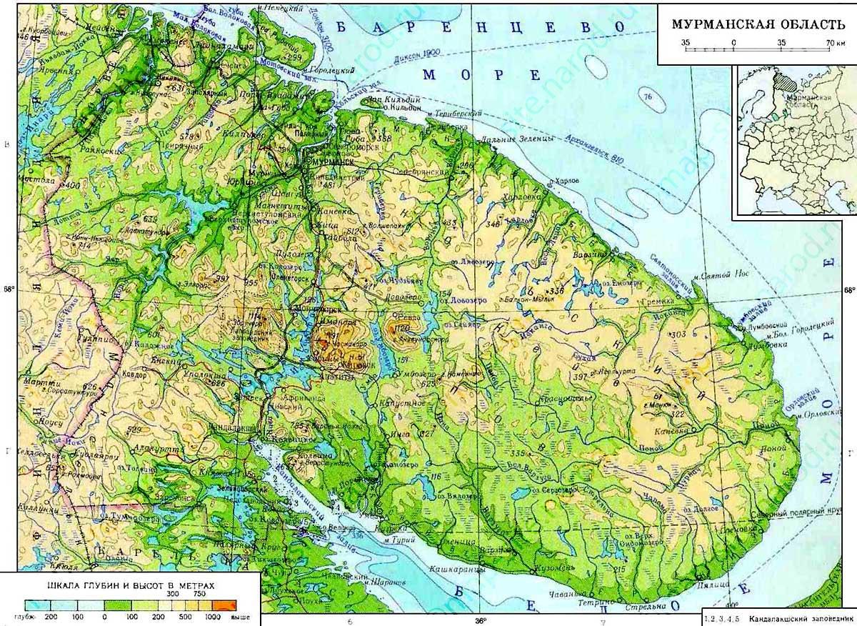 Maps of Murmansk Oblast