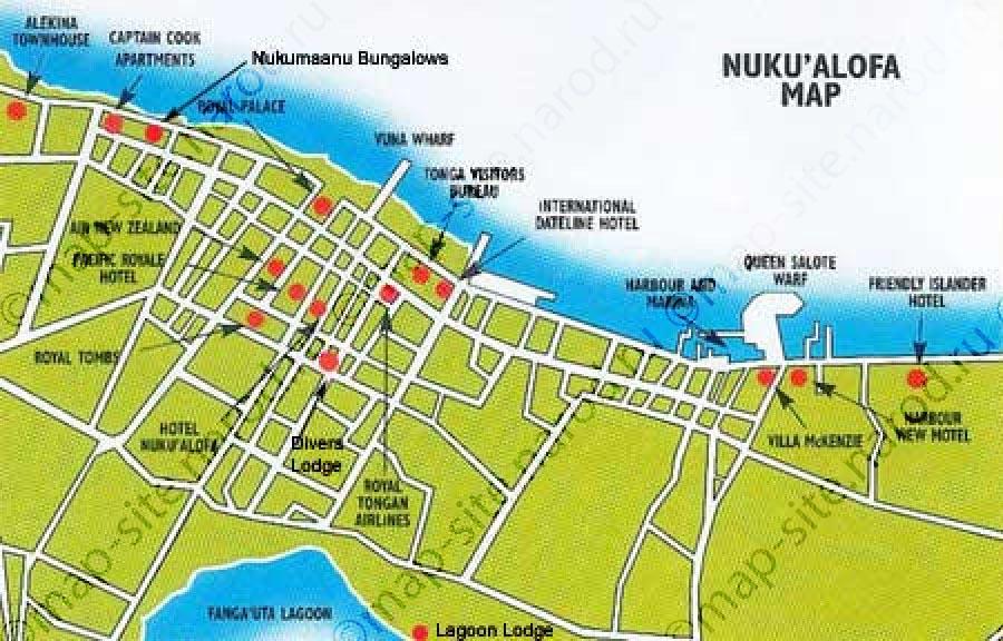 Nukualofa tonga cruise port of call printable map publicscrutiny Image collections