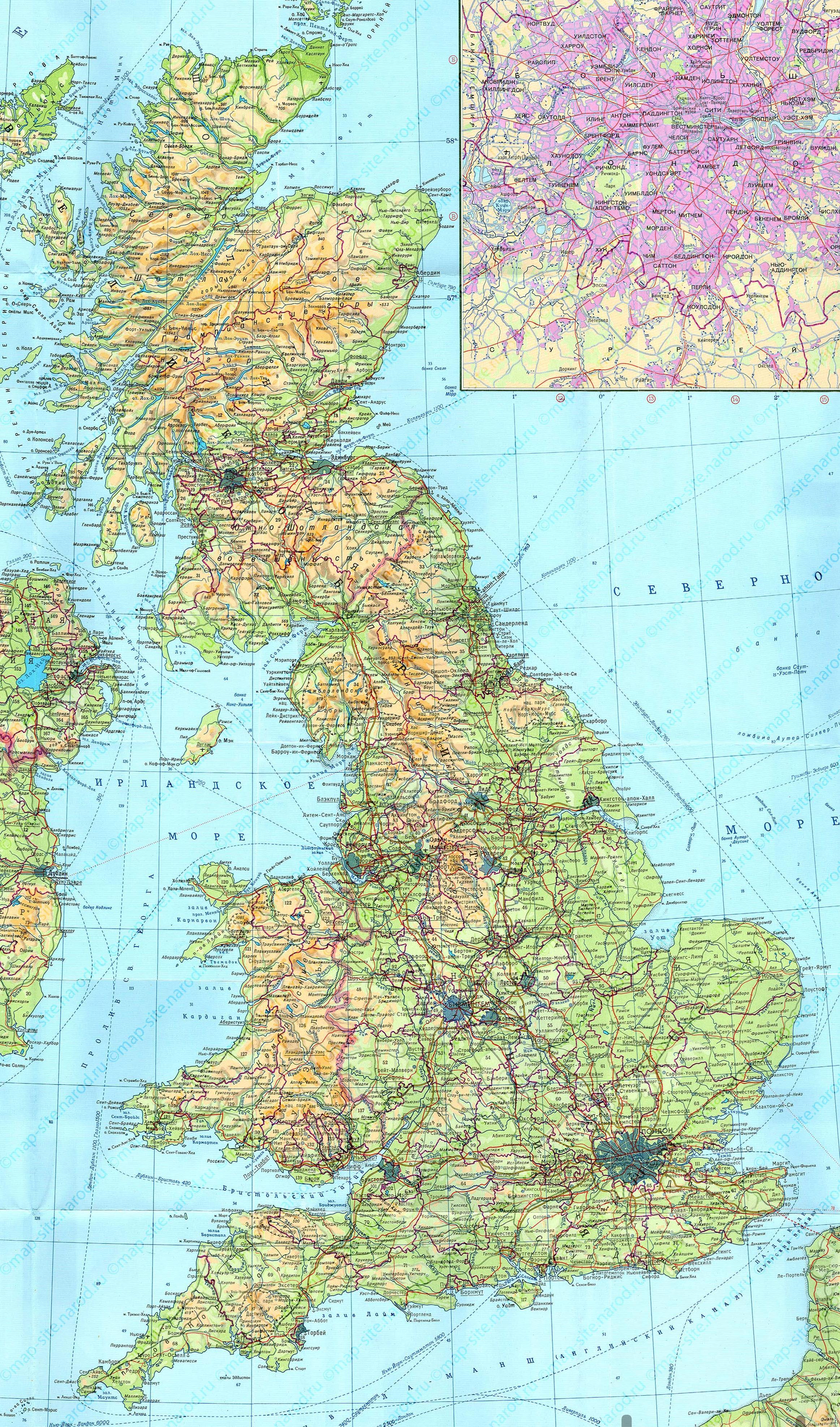 2325 3950 карта острова великобритания