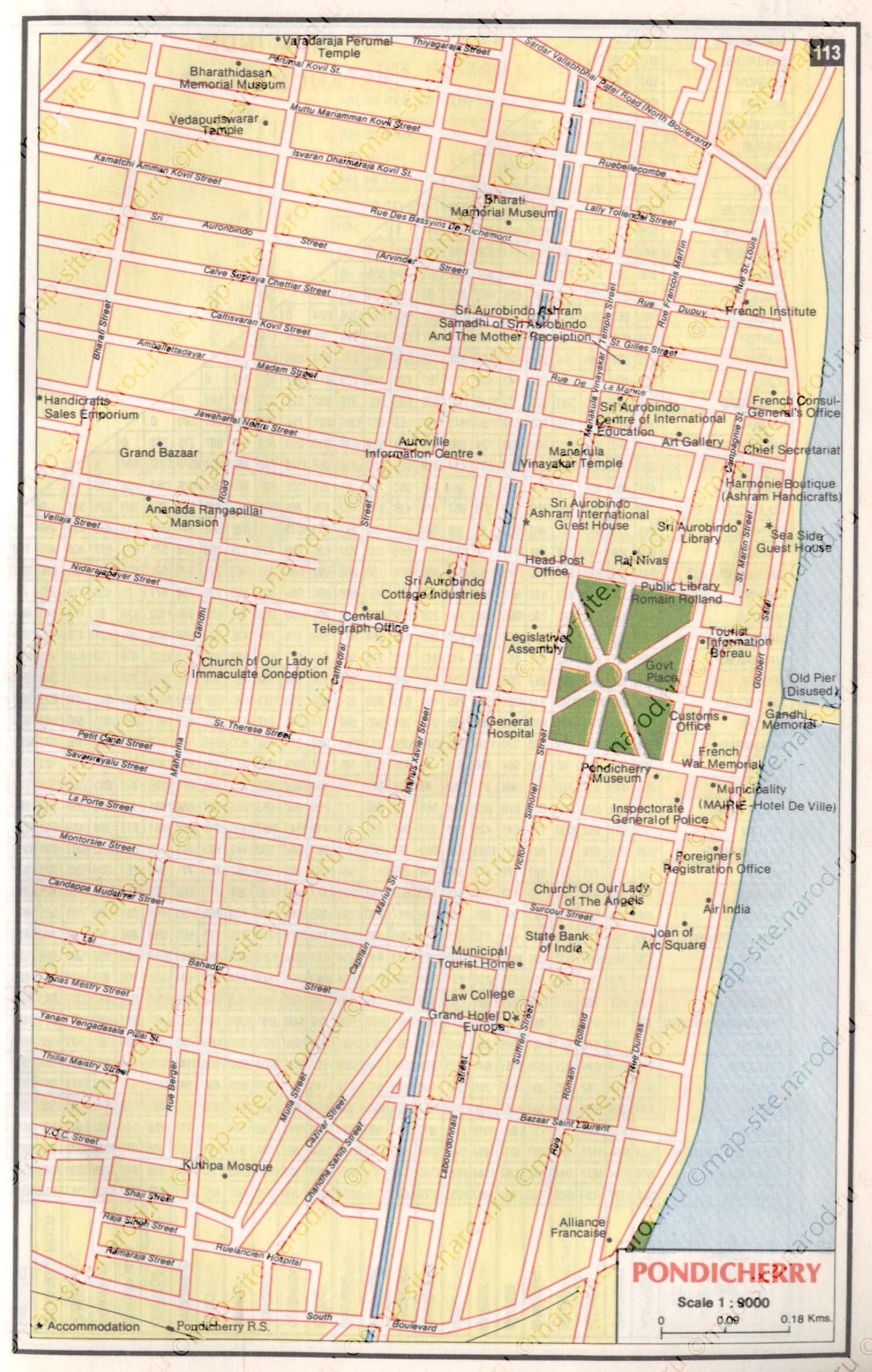 Maps Of Pondicherry - Pondicherry map