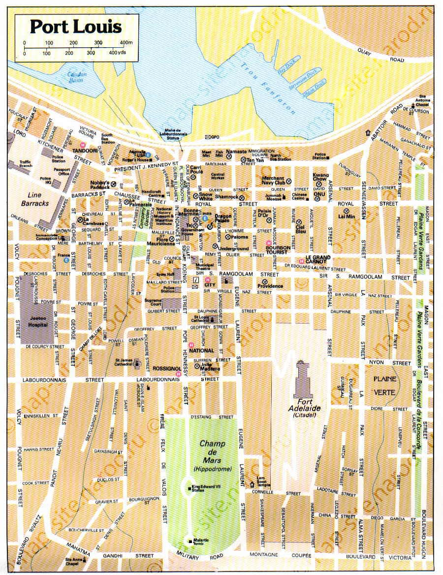 Port Louis Map World Of Map