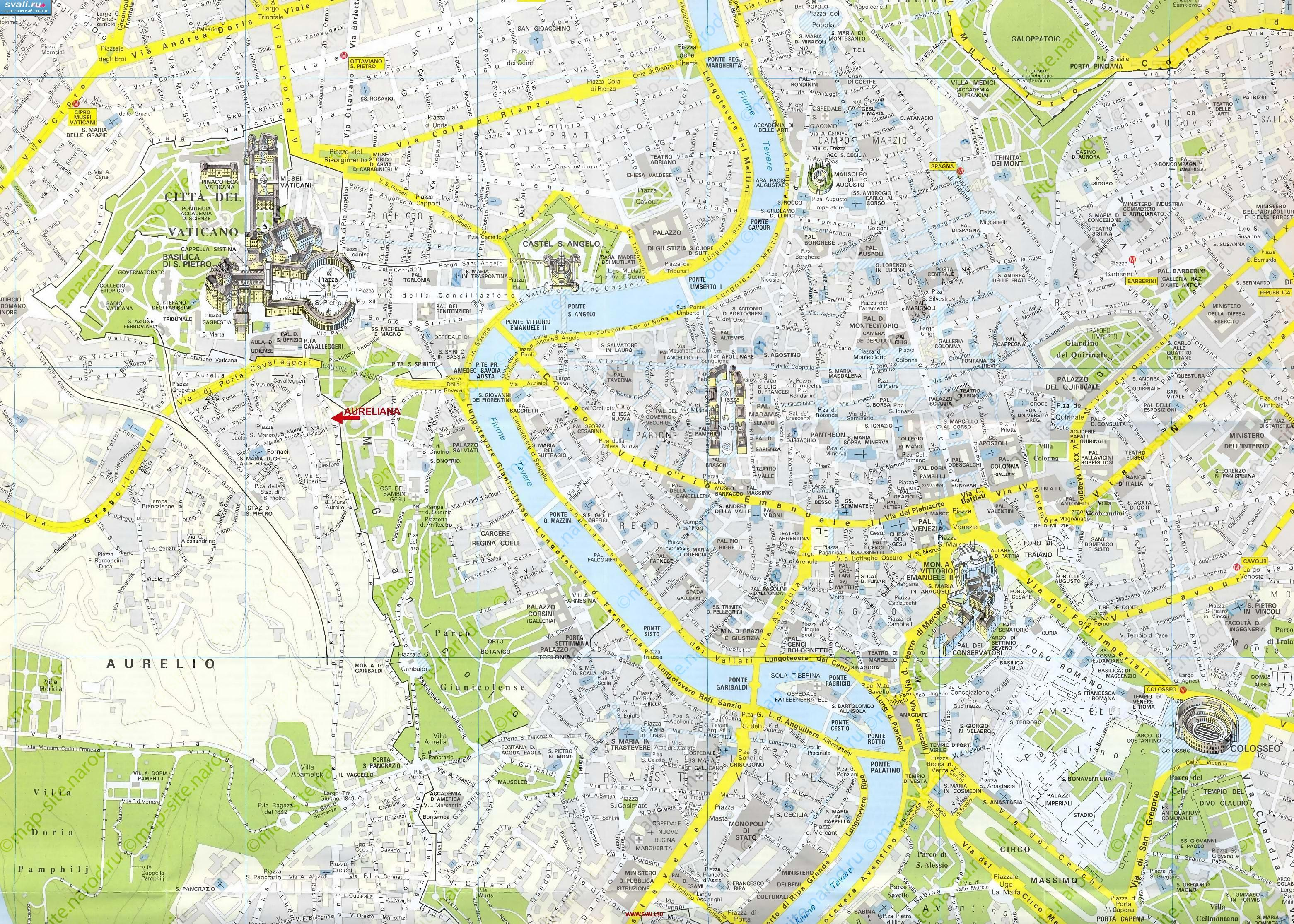 Map Of Rome - Rome map download