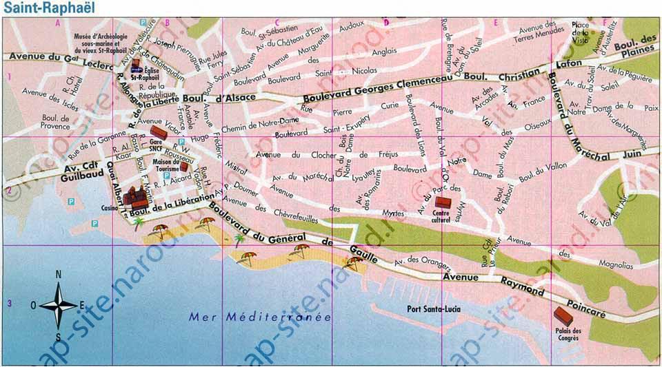 St Raphael France Map.Maps Of Saint Raphael