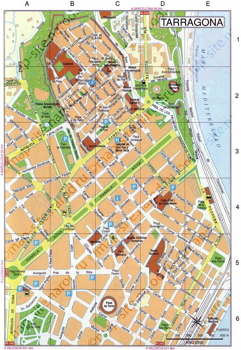 Карта города салоу на русском языке