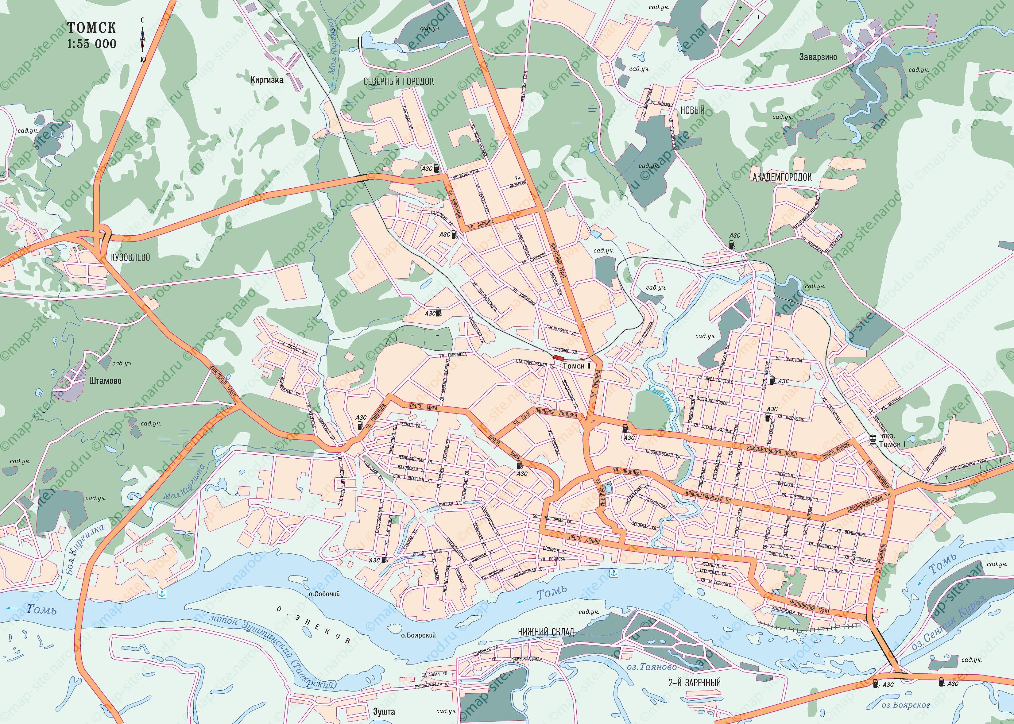 В Западной Сибири, на крутом правом берегу реки Томь уютно расположен город Томск, что есть административный центр...