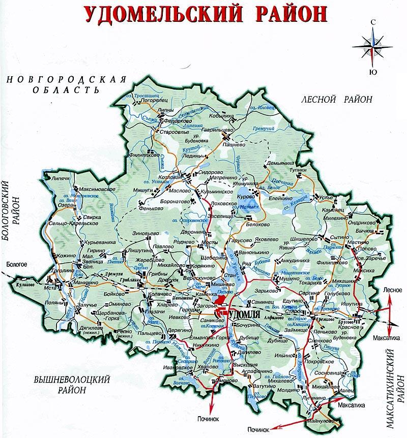 Детальная карта Удомельского