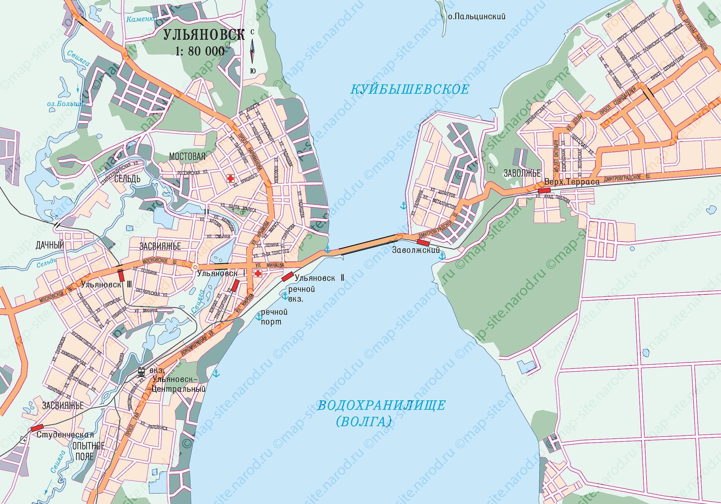 Map of Ulyanovsk