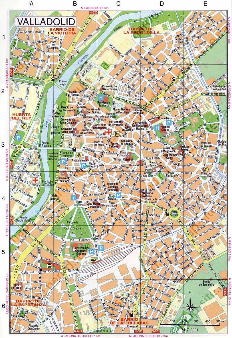 map of Valladolid map Maps of Valladolid